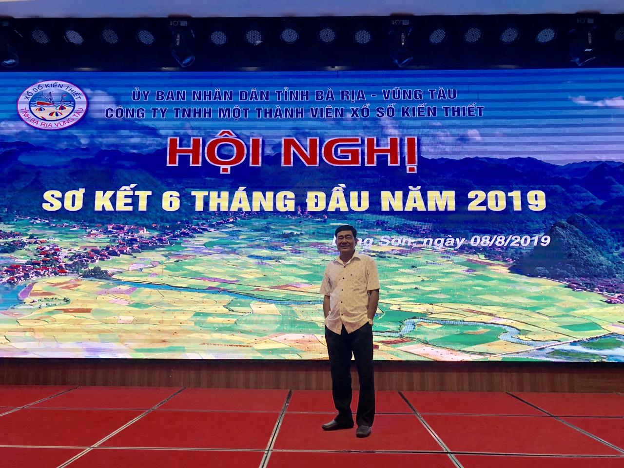 Minh Nhựt tham gia hội nghị sơ kết công ty xổ số vũng tàu sáu tháng đầu năm 2019
